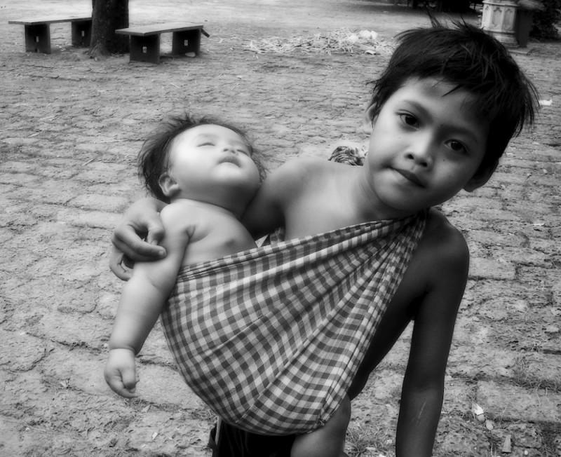 Poor children in Cambodia
