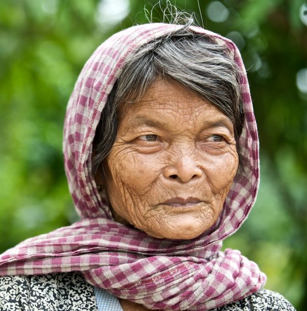 Poor woman in Cambodia.