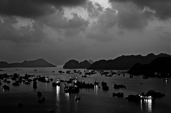 Evening in Cat Ba (Vietnam)