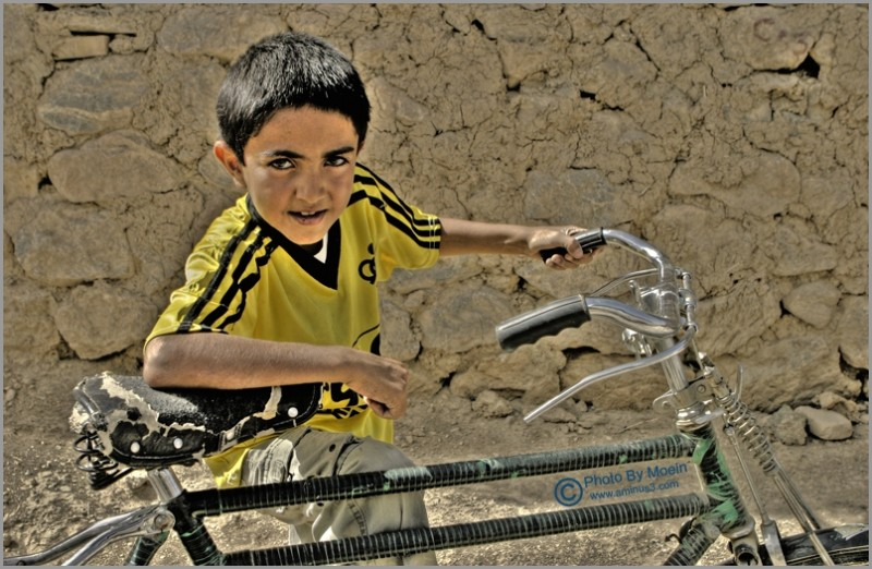 boy & bicycle