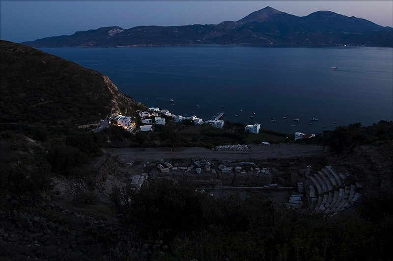 klima from the ancient theater milos greece