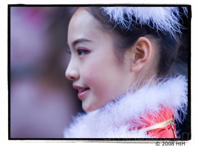 Girl in the Chinese Newyear parade, London