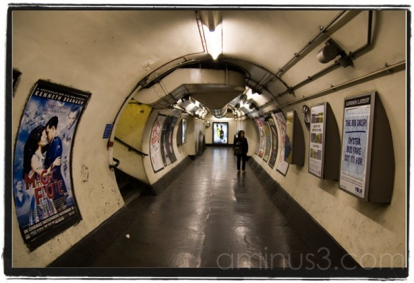 Inside Holland Park tube station