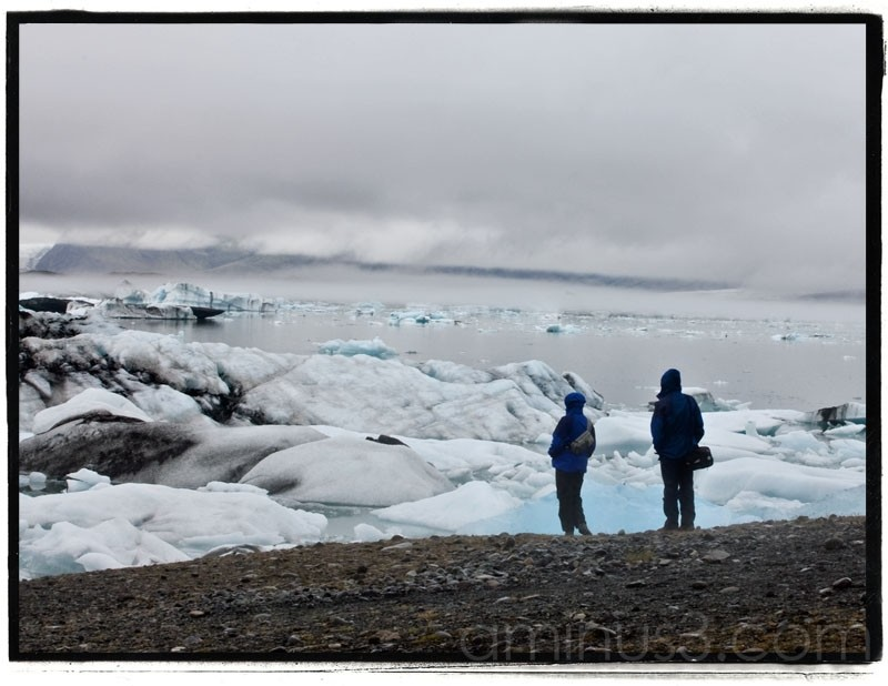 Glacial lagoon at Jokulsarlon