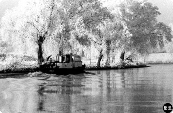 Riverscape with boat
