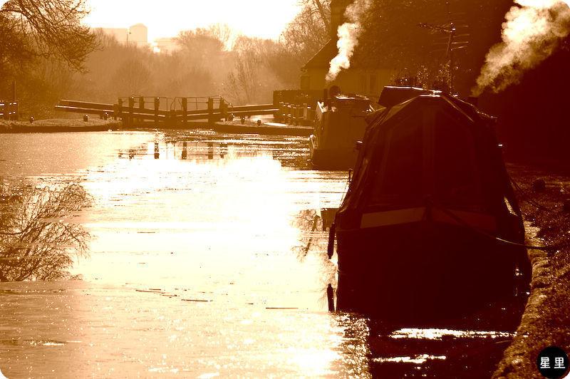 smoke canal boat lock canal
