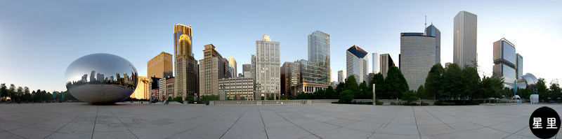 Cloud gate panorama