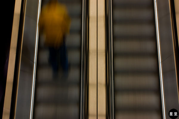 Escalator in tate modern museum