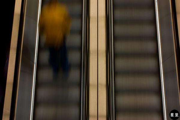 Escalator in tate modern museum