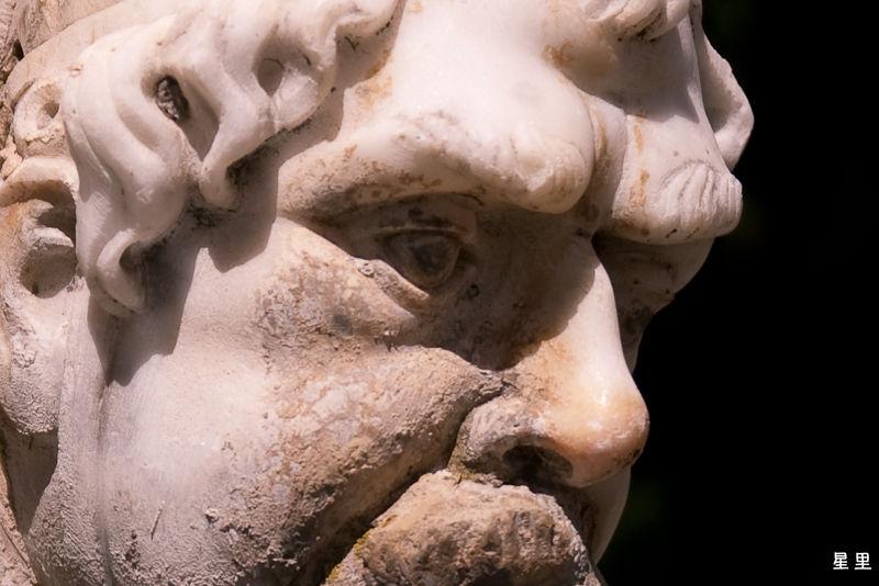 Gourdon, detail of fountain