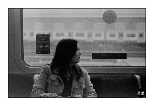 The girl on the District Line