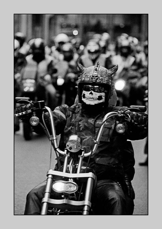 Death rides a bike