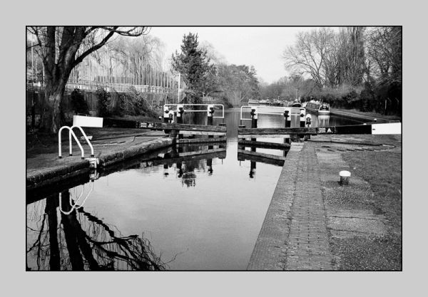 Lock in Grand Union Canal, Uxbridge