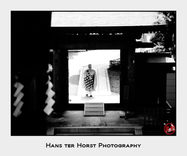Monk at Yakuoin Temple, Takaosan