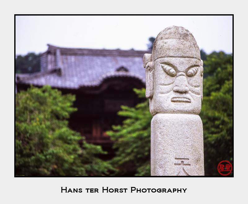 Korean-style totem pole @ Shoden-in