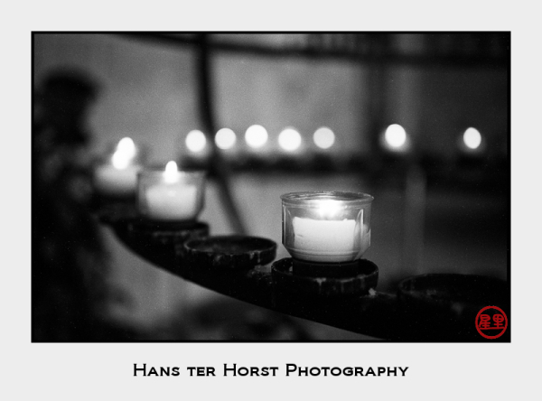 Candles inside the Basilica of Constantine, Trier