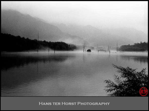Taishoike pond in the fog, Kamikochi
