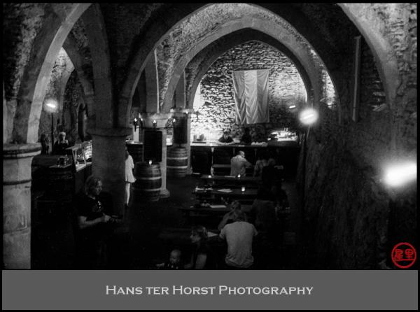 Restaurant underneath Castle Vianden