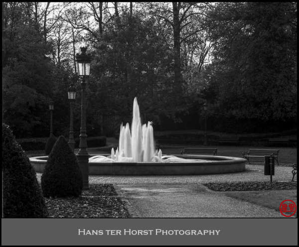 Fountain in a Luxembourg Park