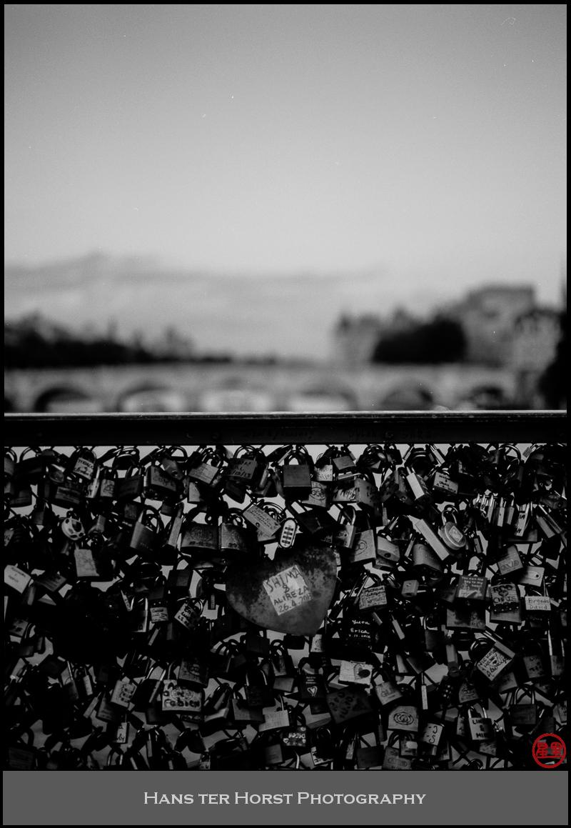 Love locks at the Pont des Arts, Paris
