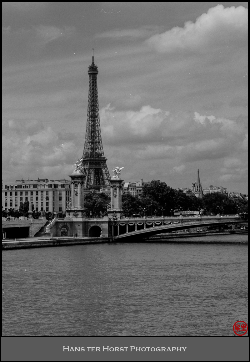 The Eiffel Tower and Pont Alexandre III