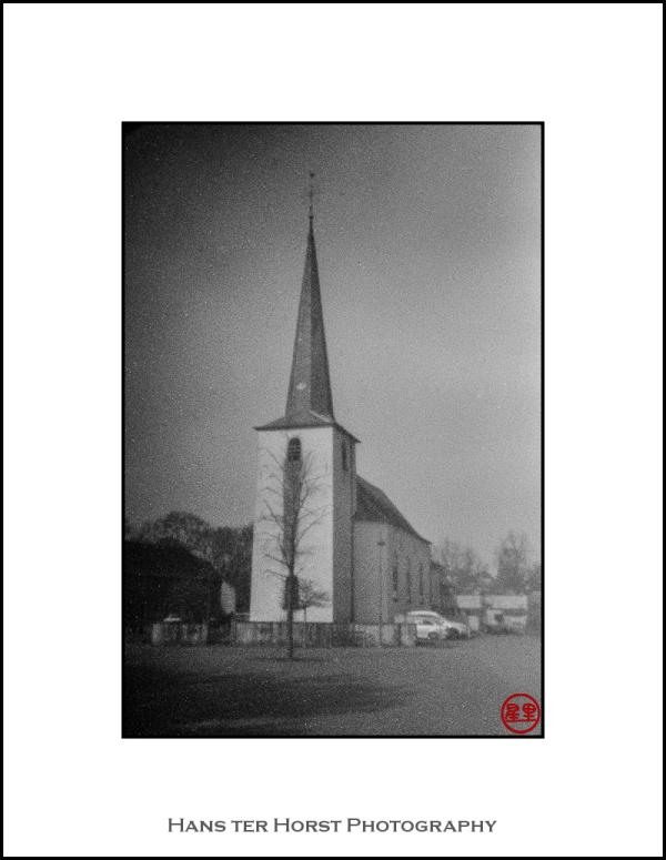 Church of Sprinkange on pinhole