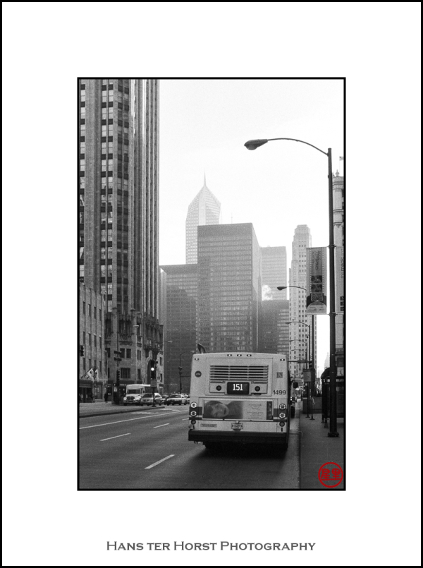 View over Michigan Avenue, Chicago