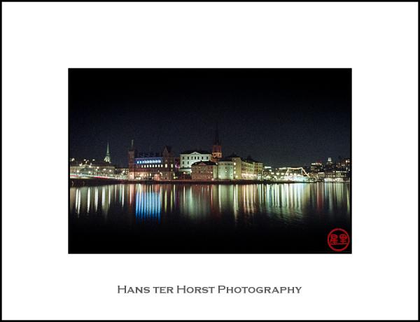 Gamla Stan and Riddarholmen at night