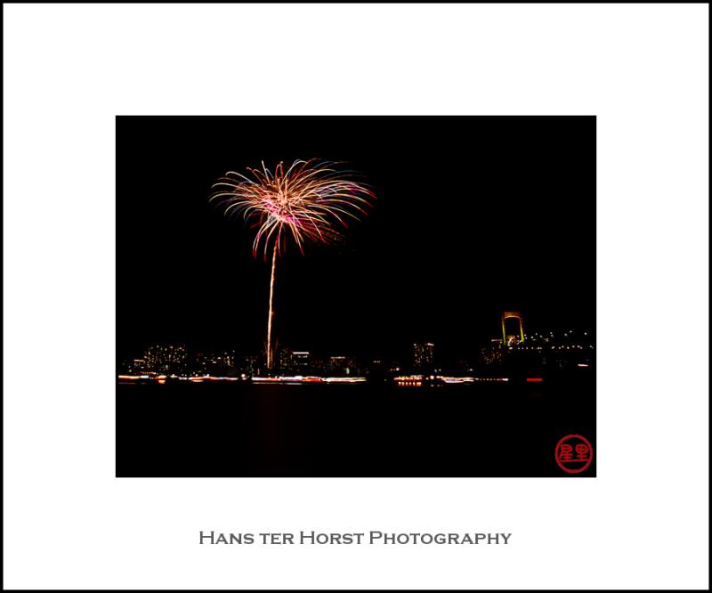 Fireworks in Daiba Park, Tokyo