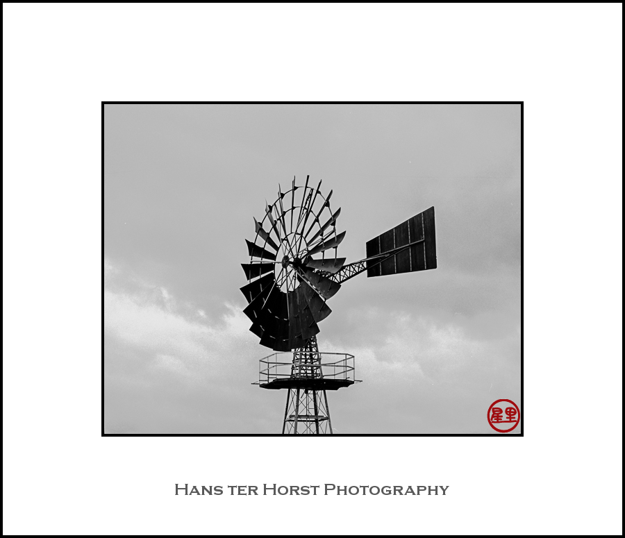 Rusty old windmill