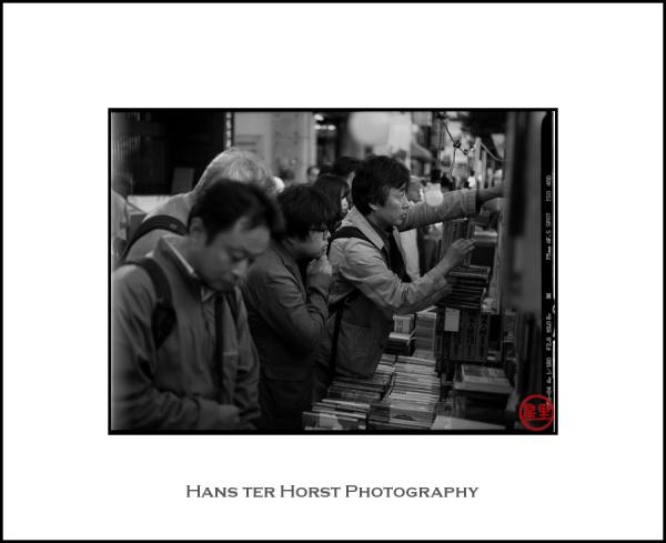Outdoor bookmarket in Kanda, Tokyo
