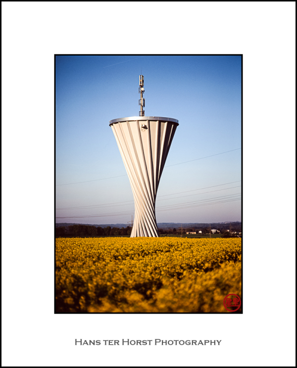 Rapeseed and water tower
