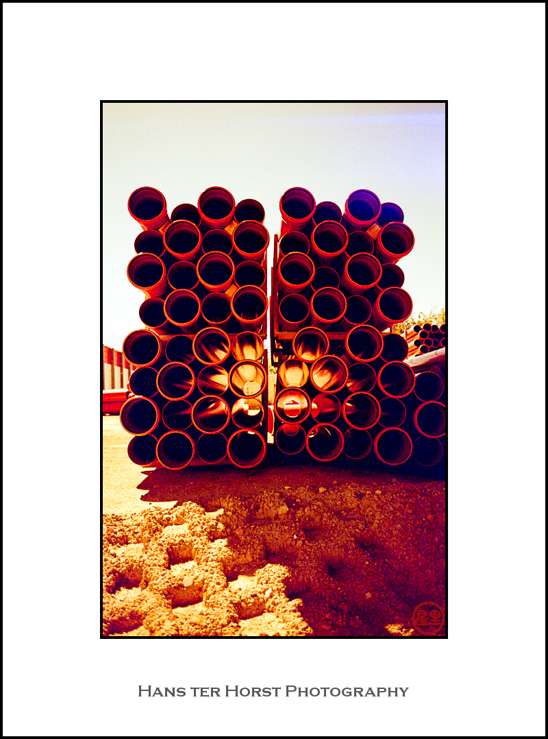 Pipes on redscale film