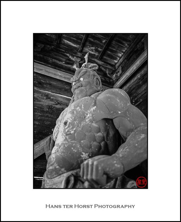 Buddhist temple: Nio statue