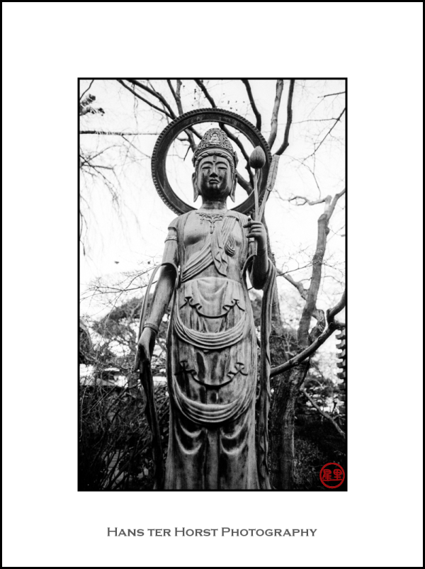 Kannon statue at temple in Kawagoe