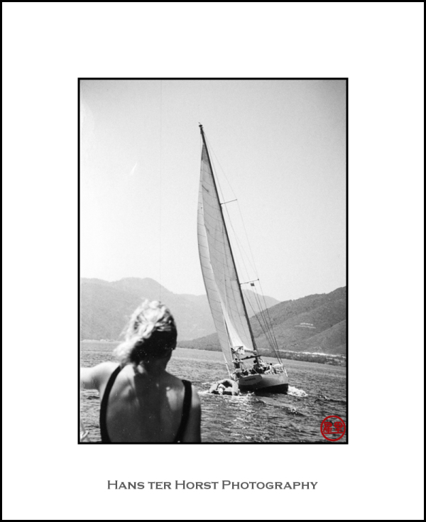 "Sailing on ""De Zwerver,"" 1986 #2"
