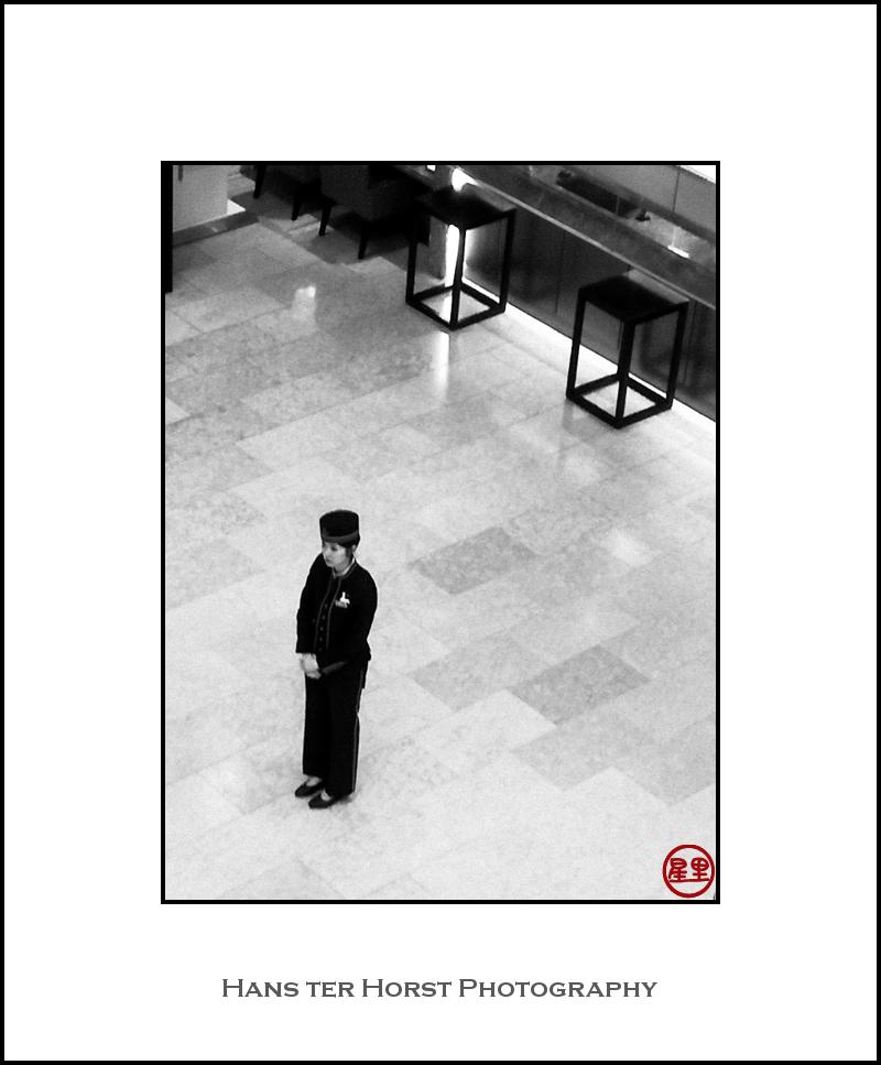 Bellboy/girl in Sendai hotel
