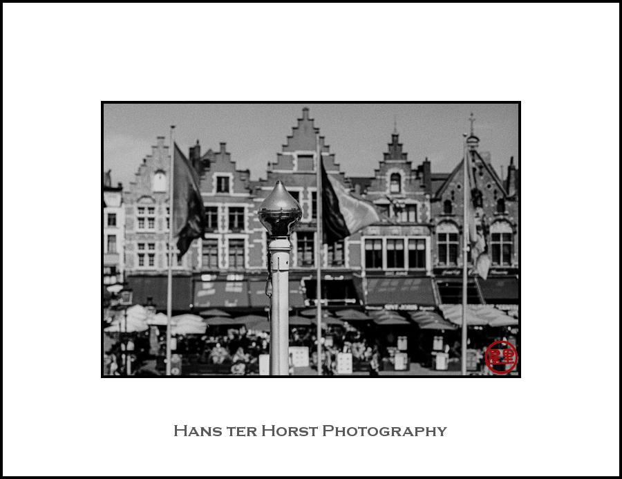 Flagpost in Bruges