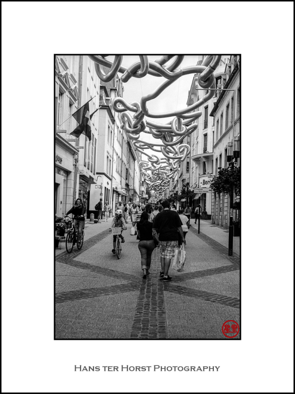 Shopping street, Ville Haute, Luxembourg.
