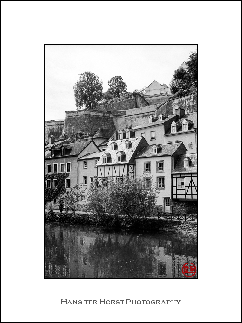 Luxembourg, view from the River Alzette