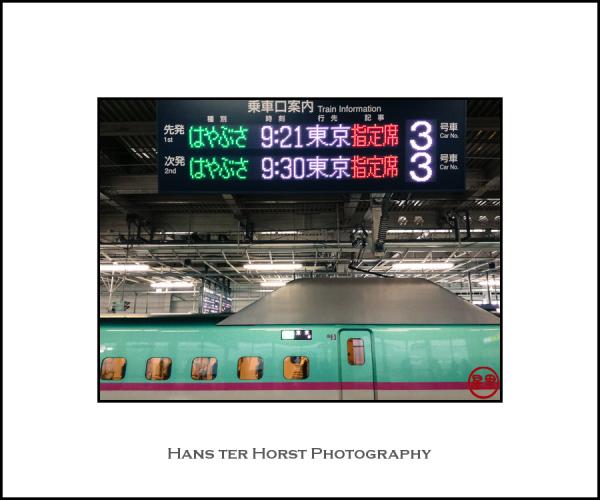 Shinkansen at Sendai station