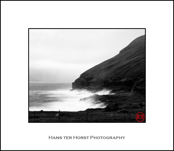 Faroe: storm on the coast
