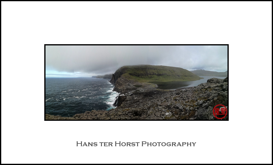Faroe: Where Sørvágsvatn runs into the ocean