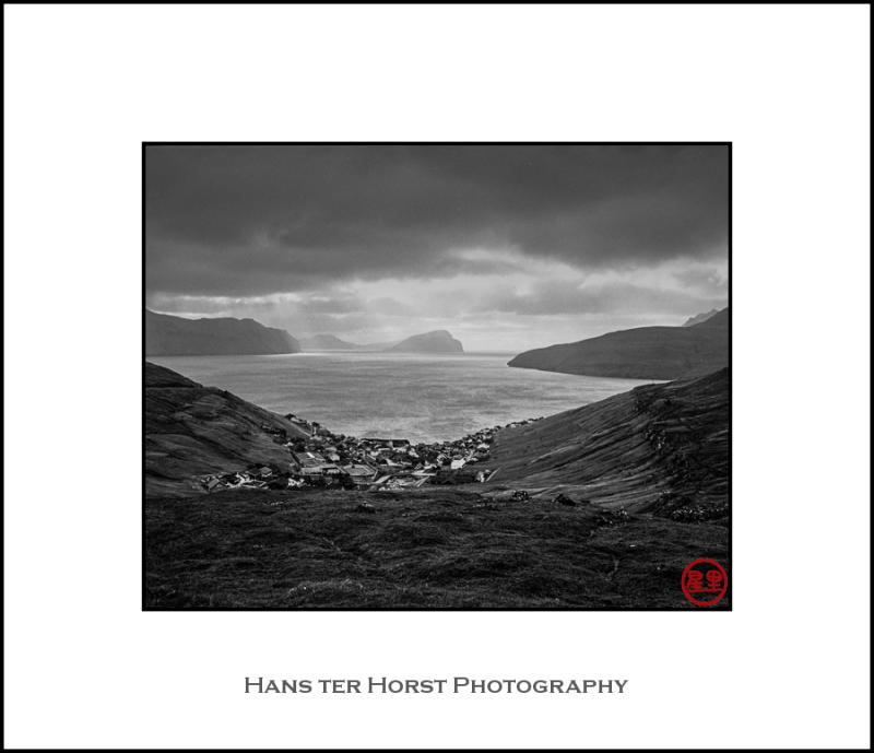 Faroe: the village of Kvívík on the coast