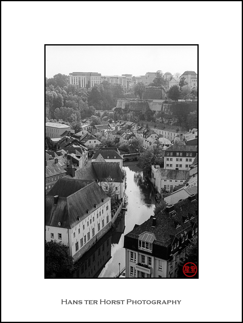 View over Grund, Luxembourg