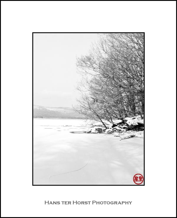 Snowy outcrop