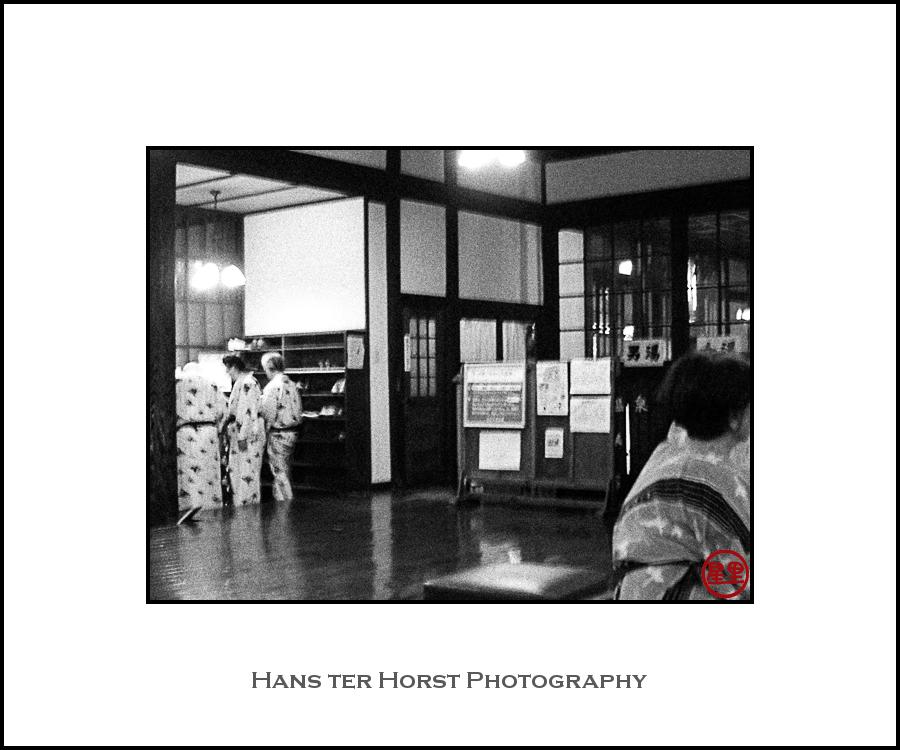 Wearing a yukata, Beppu