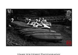 Lake Ashi, Hakone, paddle boats