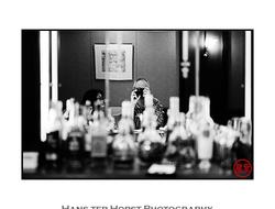 Self portrait in a bar