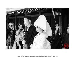 Tourists and a wedding at Meiji Jingu, Tokyo
